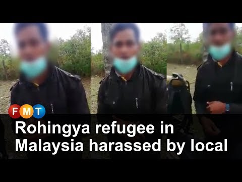 Rohingya refugee in Malaysia harassed by local