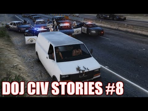 GTA5 RP | DOJ Civ Stories #8 - George and Chip transport Heroin