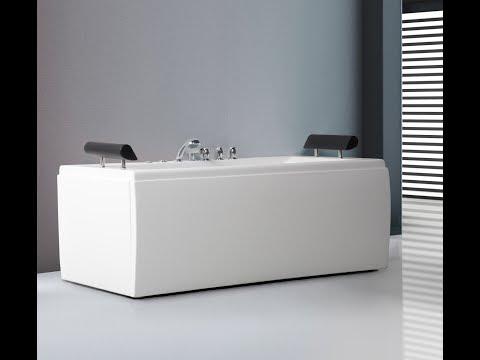 whirlpool manhattan eck badewanne eckwanne mit 14 massage d sen led spa f r 879 g nstig youtube