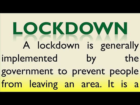 Download Essay on Lockdown in English by Smile please world