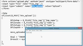 php 1 how to upload image to folder and insert record to database :...