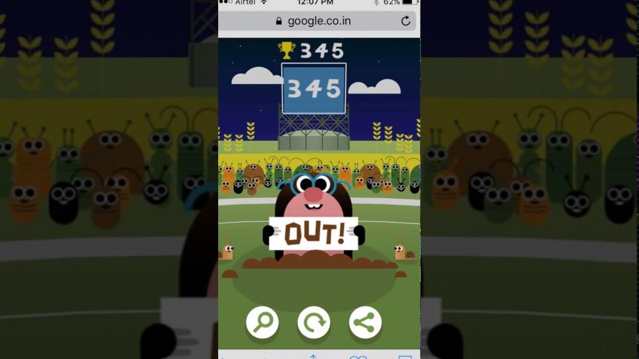 Google Doodle Cricket High Score 345