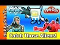 Play-Doh SpongeBob! Max Steel + Space Aliens Capture. Fun Toys HobbyKidsVids