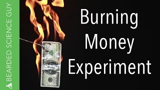 Burning Money Experiment (Chemistry)