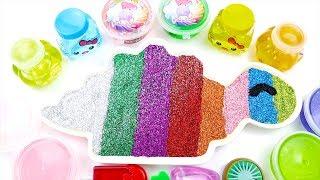 Mixing All My Slime Smoothie | Rainbow Slime Dinosaur | Brush Teeth Song Nursery Rhymes & Kids Songs
