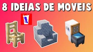 Minecraft: TOP 8 IDEIAS DE MÓVEIS PARA SUA CASA #2 [MANYACRAFT]