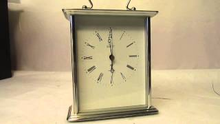 Acctim Carriage Clock Middleton Mantel Silver Radio Controlled Msf Signal 77077