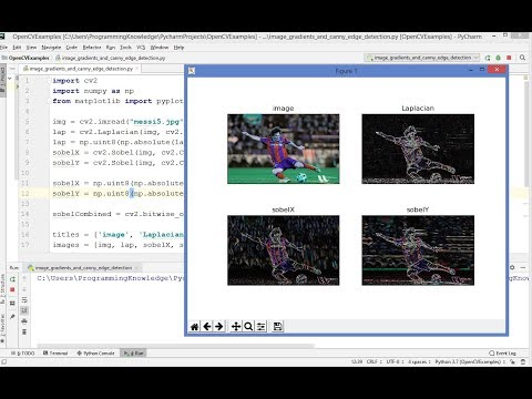 OpenCV Python Tutorial For Beginners 19 - Image Gradients and Edge Detection thumbnail