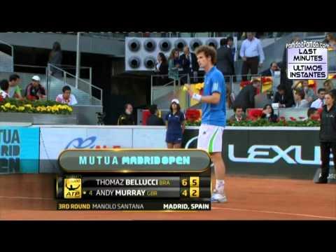 Andy Murray vs Thomaz Bellucci R3 MADRID 2011 [Last Minutes]