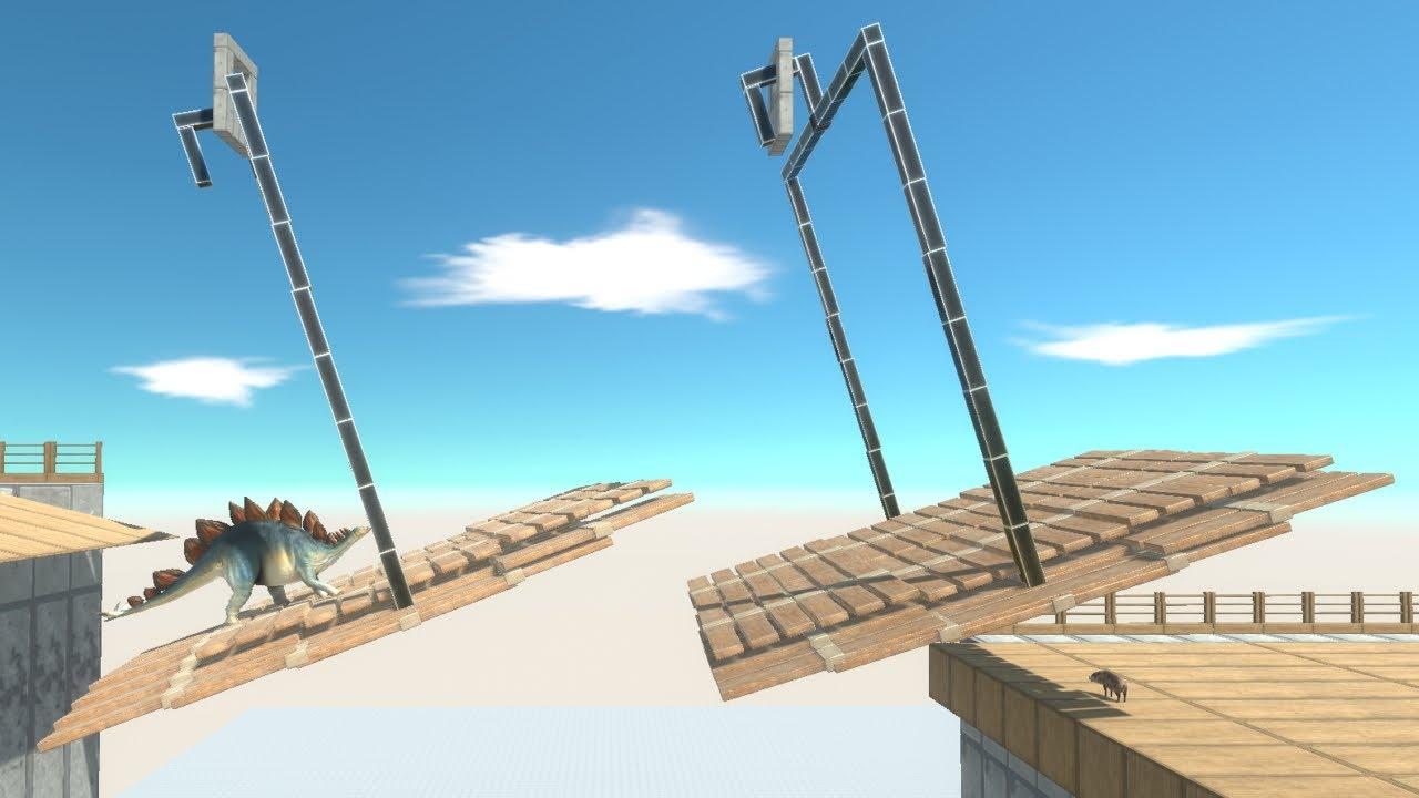Swing Bridge Wobbly Challenge Animal Revolt Battle Simulator