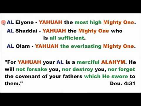 The character of ALAHYM YAHUAH