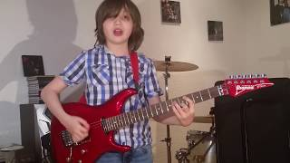 """Dustin Tomsen 13 years old covers Rory Gallagher """"Tattoo'd Lady"""" (Irish Tour 74 live Version)"""