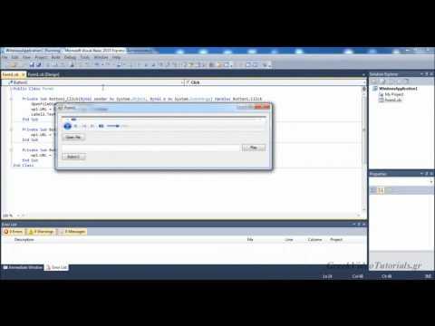 Visual Basic Tutorial 28-Radio - Media Player Part 2- Greek