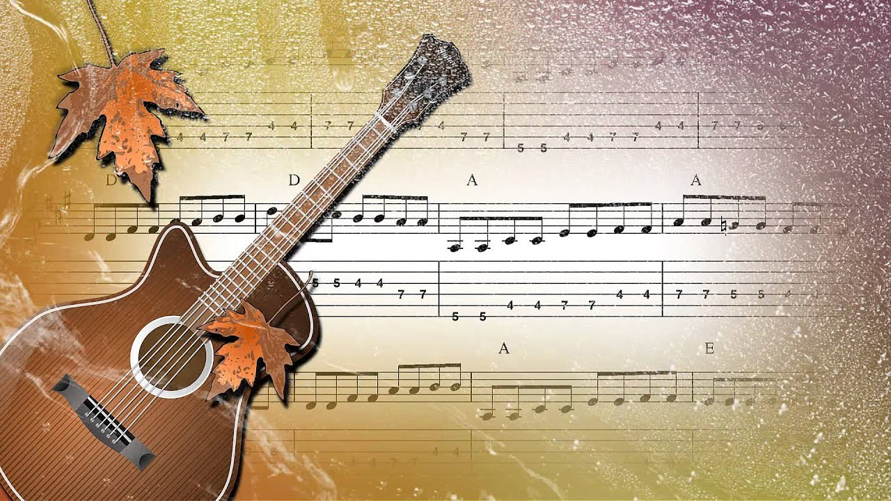 Фон с гитарой для открытки, петропавловская
