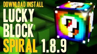 LUCKY BLOCK SPIRAL MOD 1.8.9 minecraft - how to download and install [lucky block mod addon]