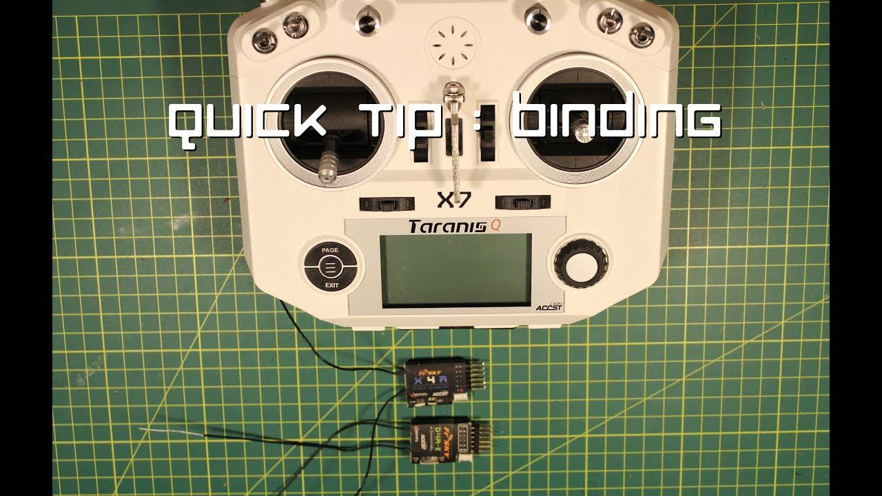 Quick Tip : Binding a Taranis QX7