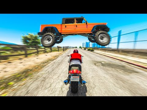 The CRAZIEST GTA 5 STUNT Challenge! (GTA 5 Stunts & Fails)