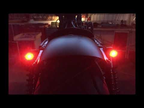 Small Micro Motorcycle Motorbike E-marked Chrome LED Indicators Turn Signals