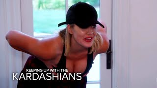 KUWTK | Khloe Kardashian Tries Out Fake Boobs | E! by : E! Entertainment