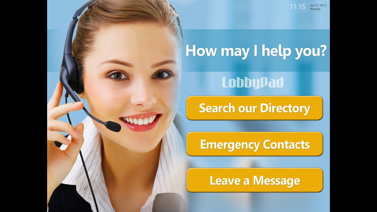 Virtual Office Lobby Assistant   LobbyPad.com Office Visitor Directory