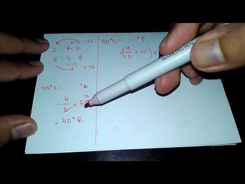 Perbandingan Suhu Celcius Reamur dan Fahrenheit - Konversi Suhu