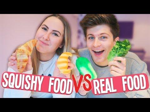 SQUISHY FOOD vs. REAL FOOD 😱