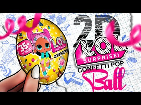 2D LOL Surprise CONFETTI POP 🎉 BALL - DIY!
