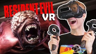 RESIDENT EVIL IN VIRTUAL REALITY!   Resident Evil 2 VR Remake (HTC Vive Gameplay)