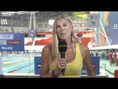 Sharon Davies & Helen Skelton BBC Swimming Coverage 3/8/15