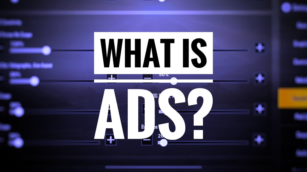 What is ADS sensitivity setting? |Pubg Mobile|