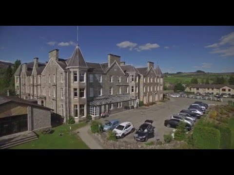 Pitlochry Hydro Hotel shot with a Phantom 3 Professional.