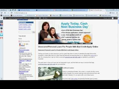 Видео Quick short term loans