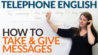 Telephone English: How to take or give a message