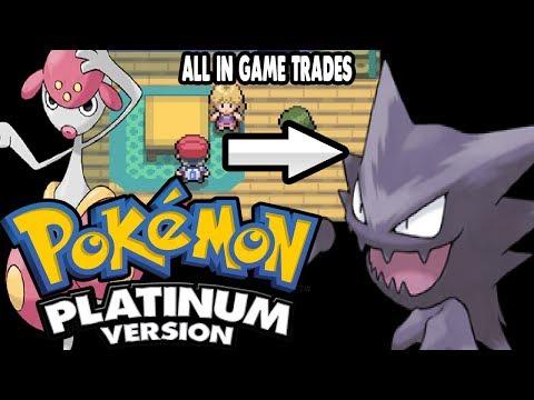 Pokemon Platinum - All In-Game Trades