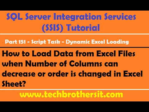 SSIS Part 151-Load Data from Excel Files when Number of Columns can decrease in Excel Sheet/s