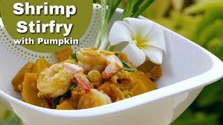 Thai food Shrimp (prawn) Stir fry