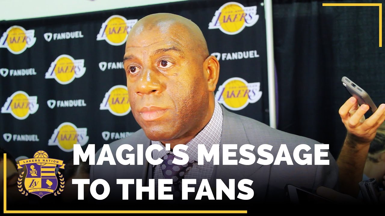 Magic Johnson's message to Lakers fans ahead of Kobe Bryant's ...