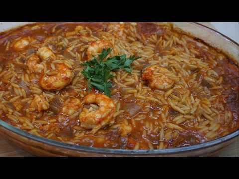 Γιουβέτσι με γαρίδες – Giouvetsi with prawns | Greek Cooking by Katerina
