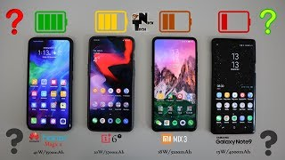 Honor Magic 2 vs OnePlus 6T vs Mi MIX 3 vs Note 9 Charging Speed Test!