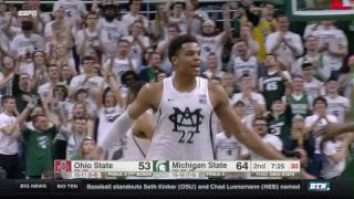 Ohio State at Michigan State - Men's Basketball Highlights