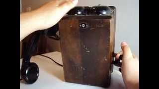 Northern Electric Wood Wall Telephone - 1953 Crank Telephone