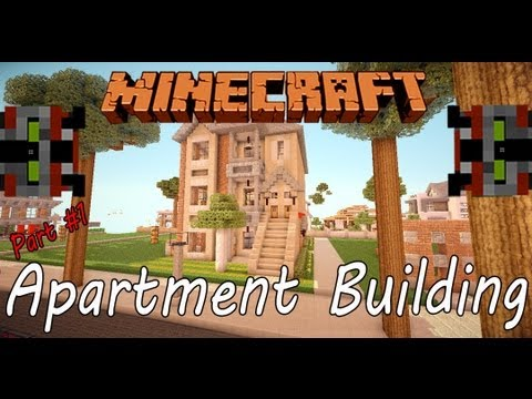 Minecraft Lets Build Apartment Building Part Youtube