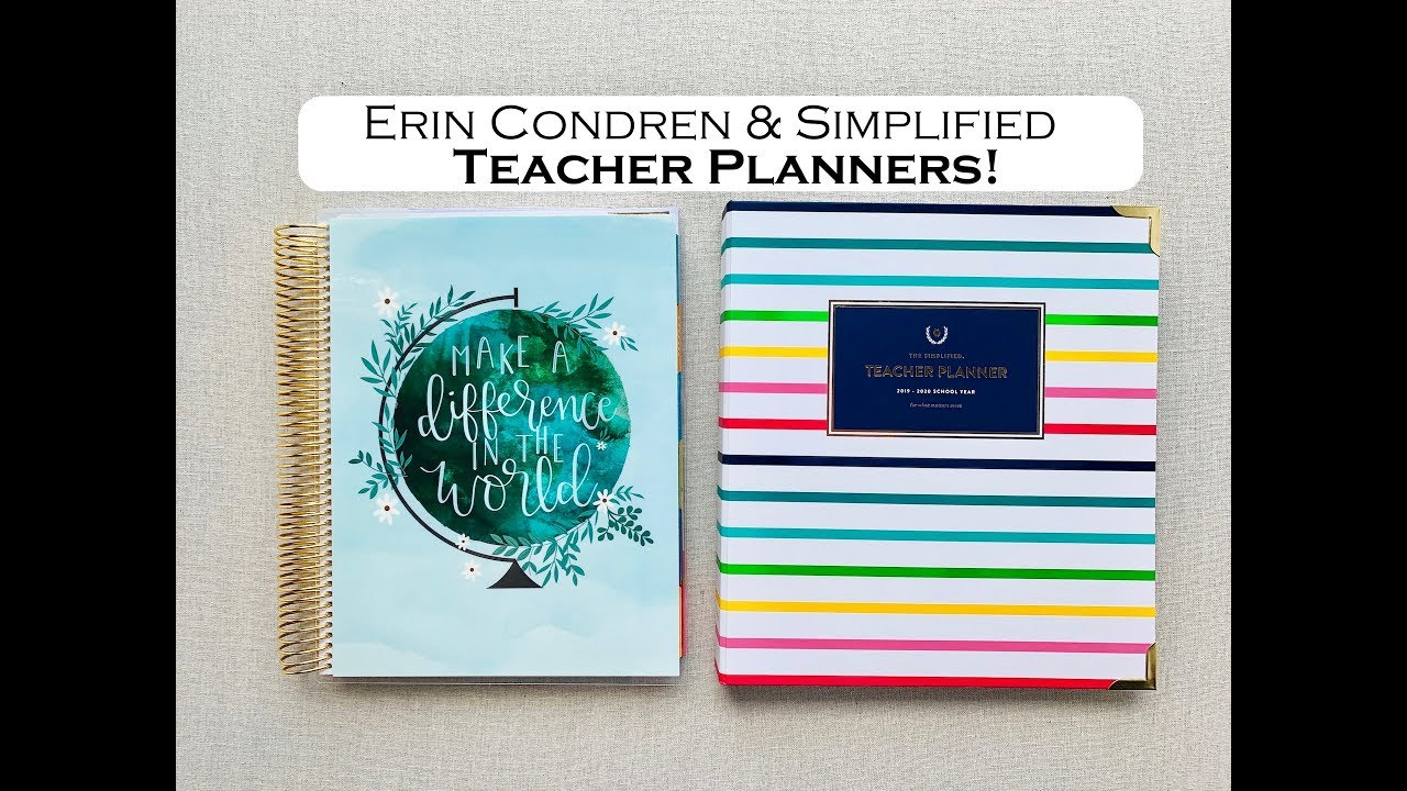 image about Simplified Planner Reviews referred to as ERIN CONDREN SIMPLIFIED Instructor LESSON PLANNERS