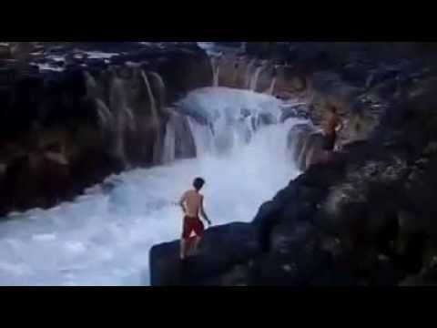 The most dangerous place for swimming i challenge you  to watch video