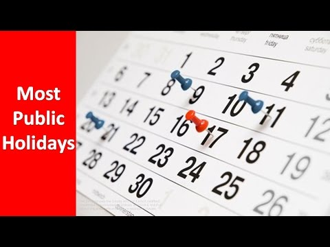 Top Countries with the most Public Holidays