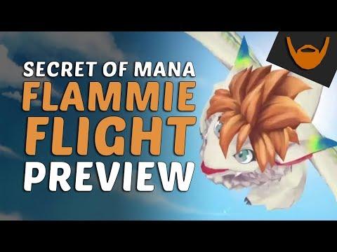 Secret of Mana - Flammie Remake Flight Preview (Jan 17, 2018 Pre-Release Livestream)