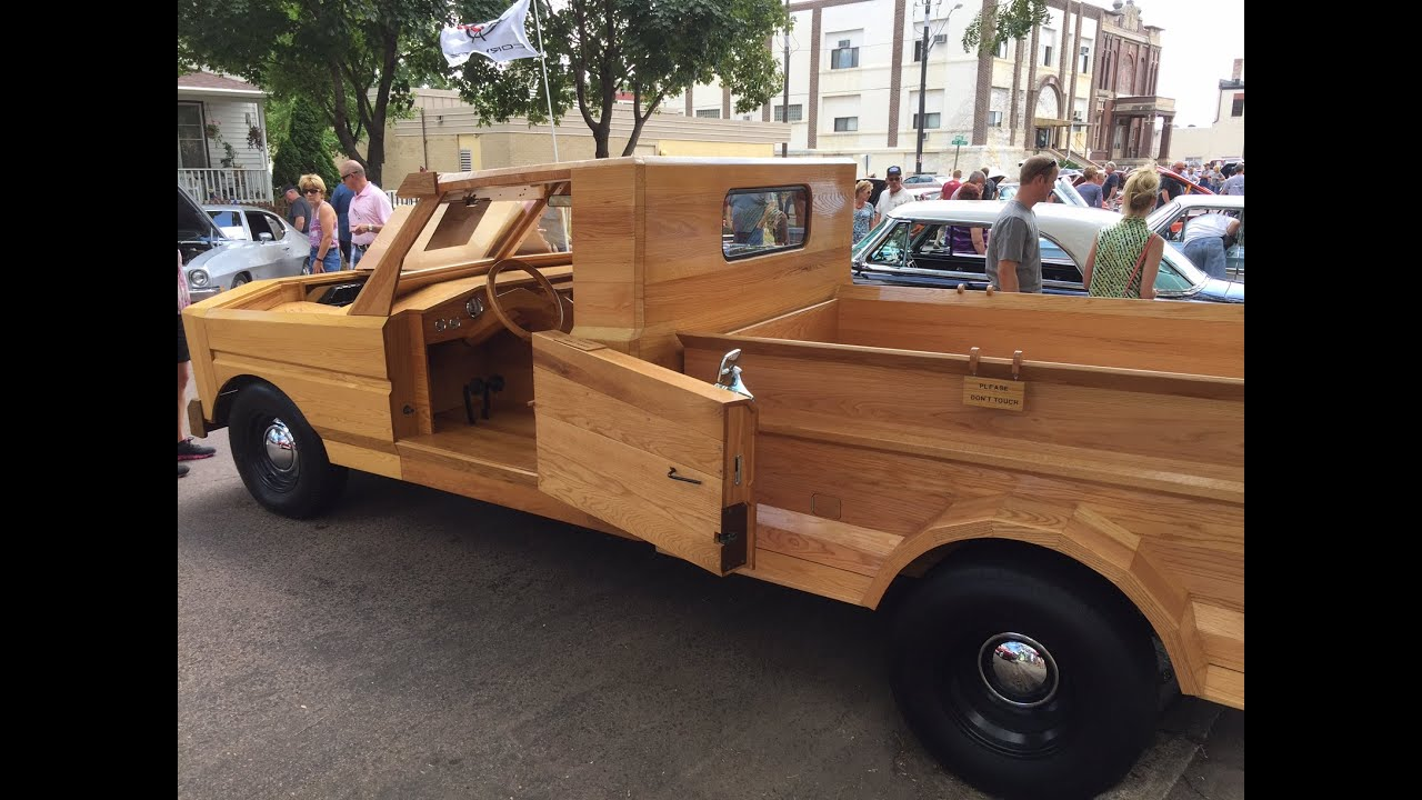 Crazy Cool All Wood Truck Hand Built In Garage Automotive ...