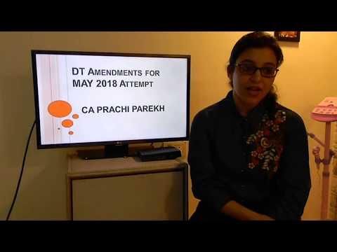 Direct tax amendments - May 2018 attempt