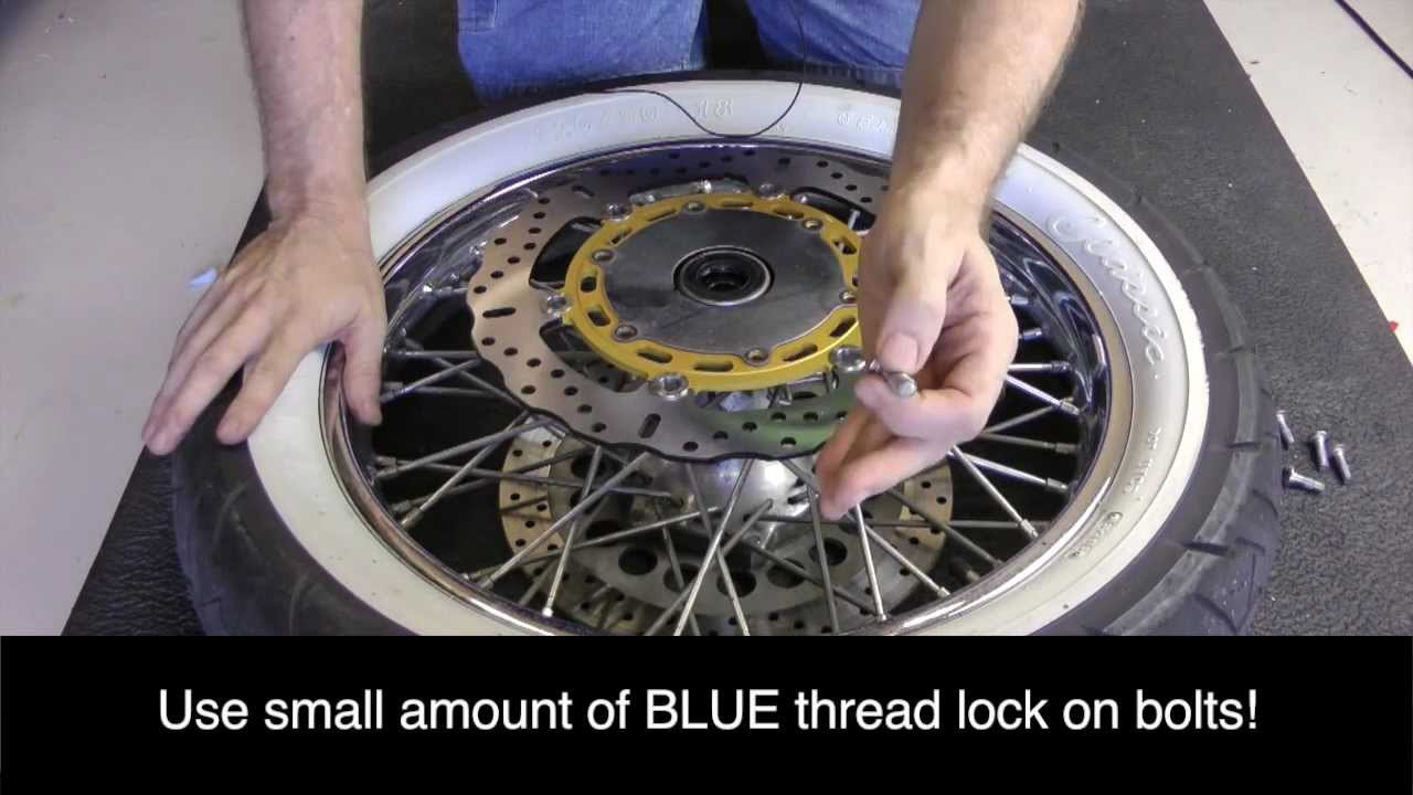 Ebc Brake Pads >> How-To Install New Front Brake Rotors/Discs On Yamaha V-Star 1100 - YouTube