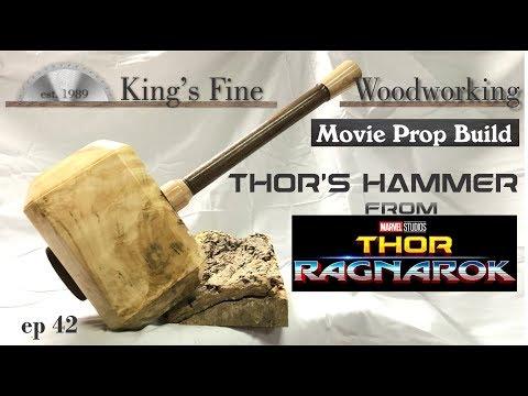 42 Thor Ragnarok Prop Build Thors Hammer Mjolnir Forged From